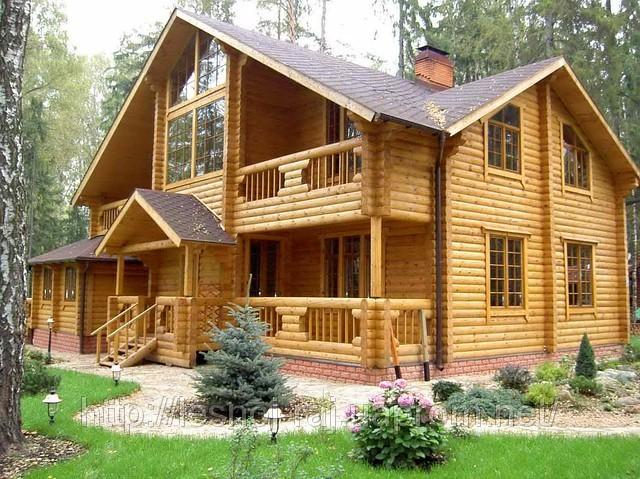 Отделка и покраска деревянного дома
