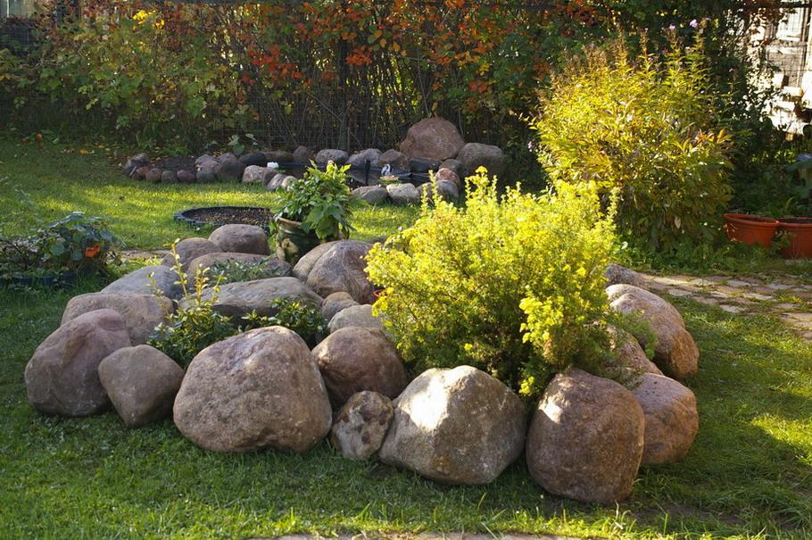 Камни для ландшафтного дизайна своими руками фото