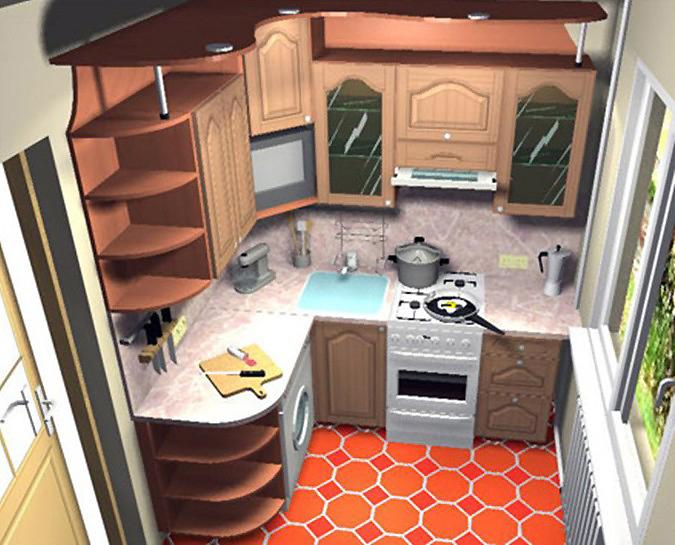 Ремонт малогабаритных кухонь фото
