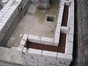 «Колодцевая» кладка стен дома