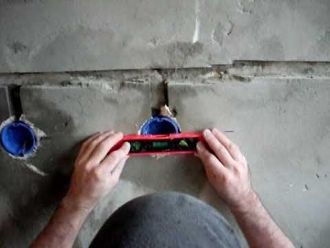 Установка подрозетника при монтаже скрытой проводки