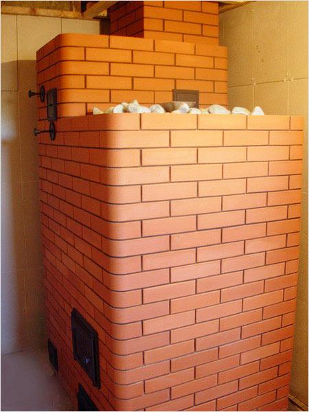Кирпичная печь для бани фото