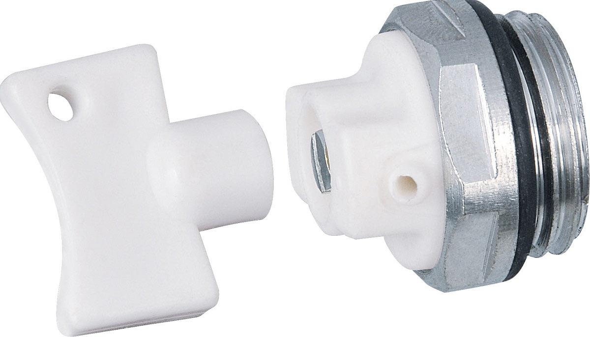 Как правило, краны Маевского комплектуются специальными ключами, которые позволяют стравливать воздух из системы отопления без применения отвертки